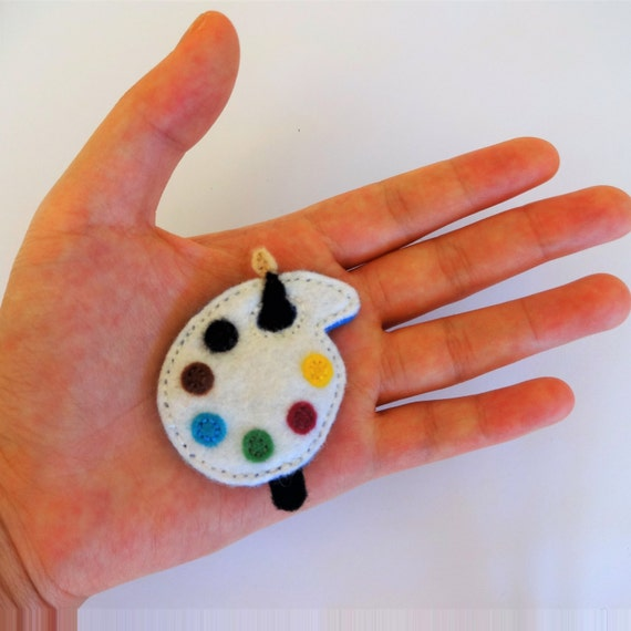 Artsy Paint Palette Brooch