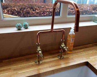Copper and Brass Kitchen Taps