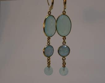 Earrings Crystal in mint