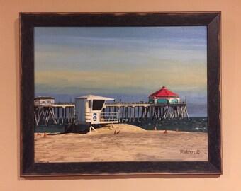 Print -- Huntington Beach Pier Day Time