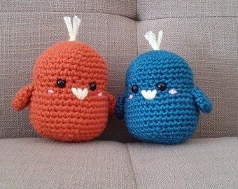 Amigurumi Love Birds. Great gift for anniversary, Valentines, Wedding, or anything at all. Quirky snuggly little animals.