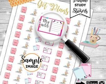 Study Planner Stickers, Study Stickers, Printable Stickers, School Planner Stickers, College Planner Stickers