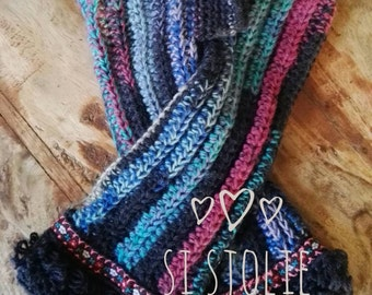 Cheerful Si Sjolie fingerless gloves ... inspired by and with a nod to the Austrian ' Try '