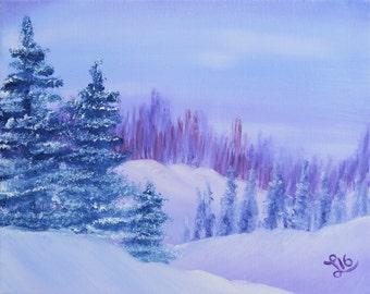 Indigo Snow Print