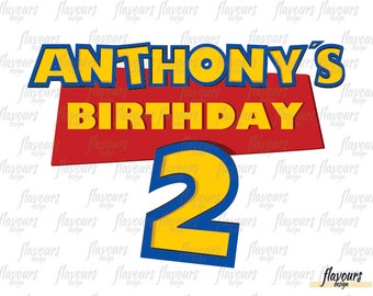Personalized Birthday Name - Toy Story Inspired - Digital Clip Art - Printable Birthday Party