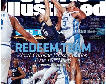 North Carolina Tarheels National Championship Magazine Cover Poster