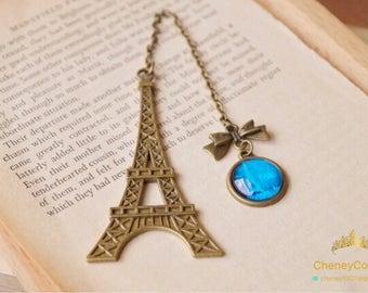 Eiffel tower bookmark,retro bookmark,vintage style bookmark,book lover gift