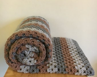 MADE TO ORDER Large Crochet Blanket, Crochet Throw, Large Afghan Blanket, Granny Square Blanket, Crochet Afghan, lap blanket