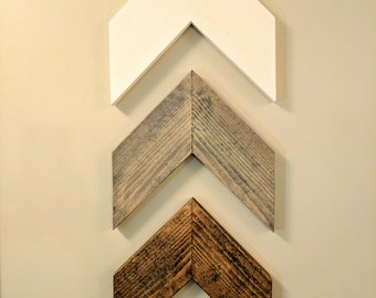 Chevron Arrows (Set of 3), Home Decor, Rustic Home Decor, Nursery, Nursery Wall Art, Nursery Decor, Nursery Art