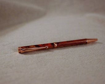 Dark Red and Bronze Pen. Executive Pen. Quality Pen.