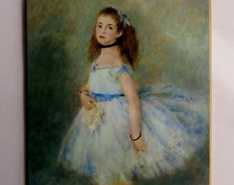 """Pierre-Auguste Renoir : """"The Dancer"""" (c. 1874) Print Plaque Vintage Fine Art Print"""