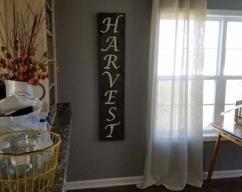 Harvest Barnwood Sign
