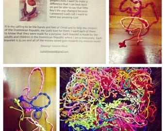 missionaryatheart string cross bracelets