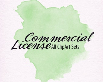 Commercial License/No Credit Required for 10 Clipart Sets