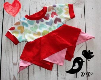 Watercolour Hearts Shirt - 9 months