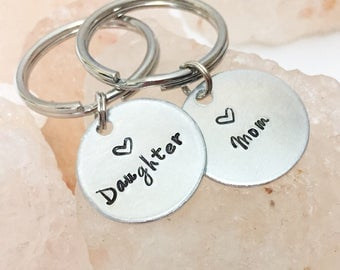 Mom Gift from Daughter, Mother Daughter Keychains, Gift for Mom from Daughter