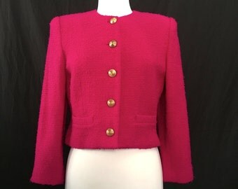 Hot Pink Lord and Taylor Blazer, Sz 6P