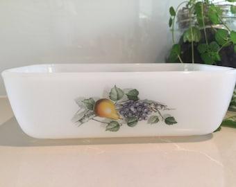 Vintage Arcopal France - 'Fruits de France' Butter Dish