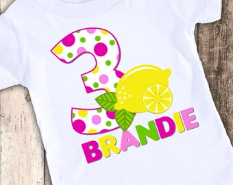 Lemonade lemon custom designed birthday t shirt tshirt personalized