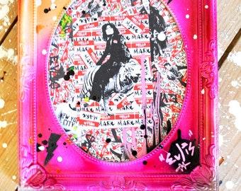 TREX - Marc Bolan Original Graffiti Spray Art in Frame
