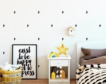 Vinyl child - Little thunders - Mini removable decorative vinyl beams