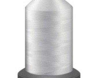 white thread , polyester thread, glide no 40, Tex 27, sewing thread, quilting thread, 1000m cone, 40 weight thread