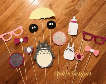 Custom PHOTO BOOTH PROPS / Photo Props for Babyshower