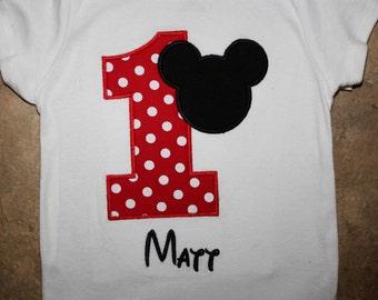 Polka dot Mickey Mouse shirt