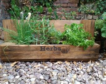 Handmade herb garden