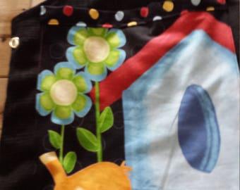 Bag knitting and crochet birds