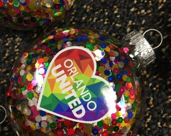 Orlando United Holiday Ornaments Orlando One Pulse Orlando United christmas decor pulse christmas ornament support pulse shooting victims