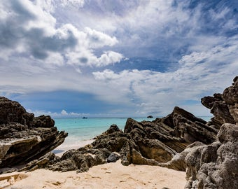 Matted, Color Photograph Print of Church Bay, Bermuda