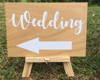 Wedding Sign, Arrow, wedding signage