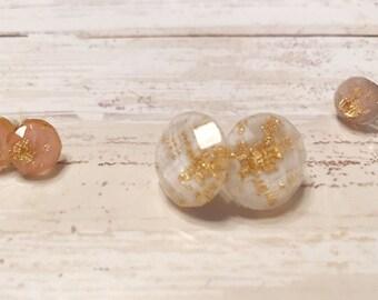 Druzy jewelry - Druzy earrings - Metallic druzy earrings - Earrings - Gift idea - Stud earrings - Post earrings - Druzy post earrings