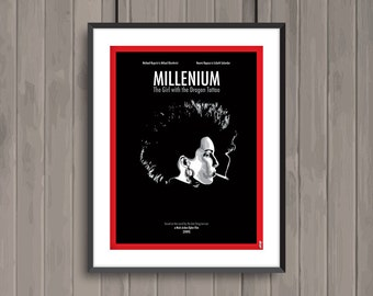 MILLENIUM The Girl with the Dragon Tattoo, minimalist movie poster