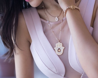 Hamsa Hand of God Necklace