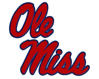 7 SIZE! Ole Miss Rebels Embroidery Designs College Football Embroidery Designs PES Digital Machine Embroidery Instant Download
