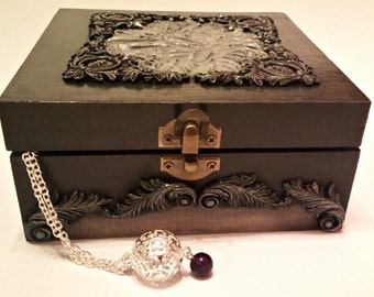 Wooden Decoupage box, Jewellery Box, Rustic, Antique Box, Gift Box