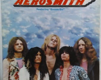 Aerosmith S/T Lp Joe Perry Steven Tyler Mama Kin Dream On Columbia