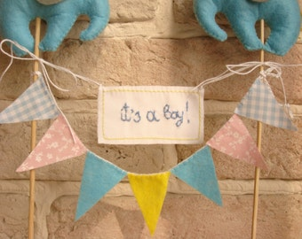 Hand Embroidered Sign Topper Birthday Decoration Baby Shower