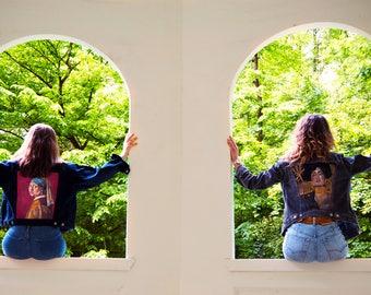 Hand painted Denim Jacket - Klimt