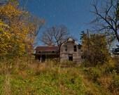 Farm in Fall, Old Farm Prints, Vintage Farm photo, Abandoned Farmhouse photo, Old Farmhouse, Farmhouse in Fall, Weathered Farmhouse