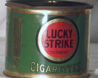 Lucky Strike 100 pk. Round Cigarette Tin