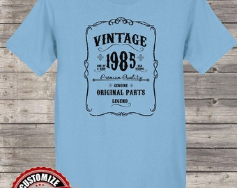 Vintage 1985 Original Parts, 33rd birthday gifts for women, 33rd birthday gift, 33rd birthday tshirt, gift for 33rd Birthday for Women