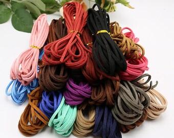 Leather Velvet Cord Purple Cord,Black Cord,Blue cord,Beacelet cord,3mm Leather Cord,Cord, Thread, String, Rope,TSC023