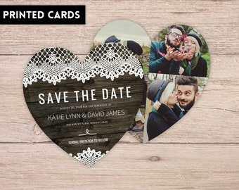 Save the Date Card,  Personalized, Custom Save the Dates, Save the Date, Save the Dates, printed Save the Date card, country lace