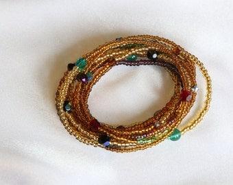 Long wrap cuff bracelet