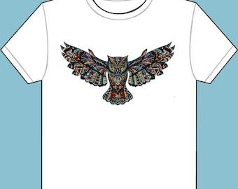 Brand *New* T-Shirt Full Owl Jewel