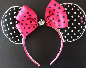 Minnie  mouse inspired- Disney ears