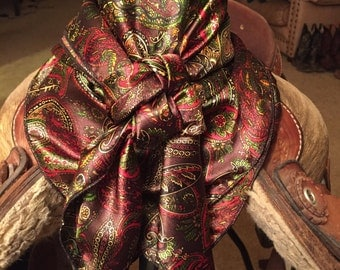 Green and Brown Paisley Wild Rag